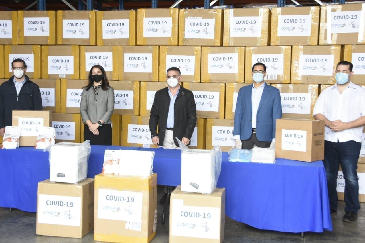 Tercera entrega de donaciones al Gobierno por parte del Conep