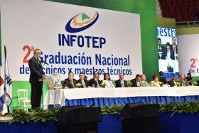 6 campos de moya presidente de la aird orador principal en la ceremonia de graduacion del infotep