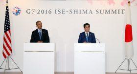 El presidente Barack Obama y el primer ministro Shinzo Abe.