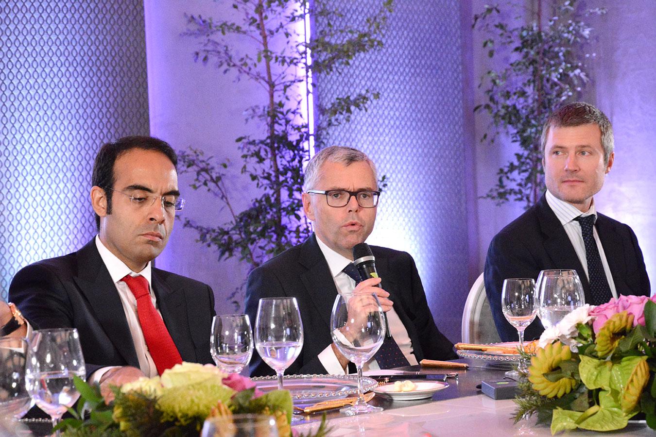 Martin Roos, Michel Combes y Abdelhakim Boubazine.  | Gabriel Alcántara.