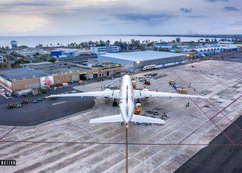 En mayo, el país registró un flujo de pasajeros de 12,785, cifra que representa alrededor de 4,000 visitantes adicionales. | Foto cortesía de  Skymotion Aerial Footage