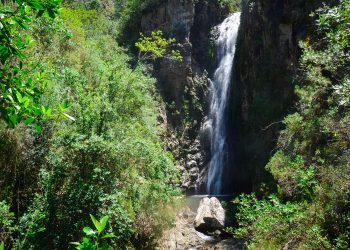 El salto de Agua Blanca es uno de los atractivos turísticos de la zona más visitado, necesita inversión y promoción. | Luis Ariel Gómez Pérez
