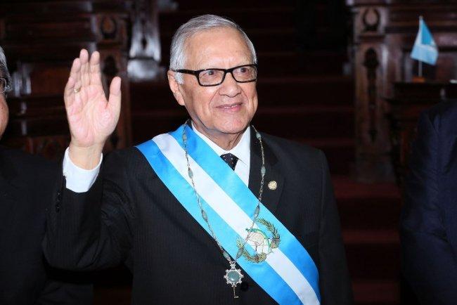Alejandro Madonado sustituyó a Otto Pérez Molina, quien enfrenta un juicio por presunta corrupción.