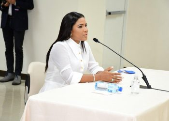 La periodista, Anibelca Rosario. | Fuente externa.