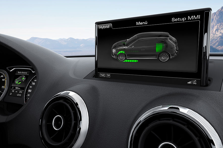 Un plano de la pantalla principal del  Audi Sportback e-tron. | EFE