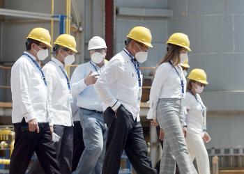 Autoridades del sector eléctrico realizan visita técnica a la Compañía de Electricidad de San Pedro de Macorís (CESPM).