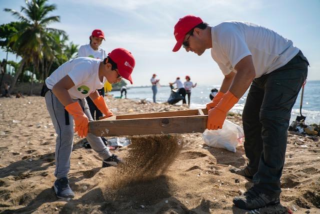 bancamerica limpieza de playa
