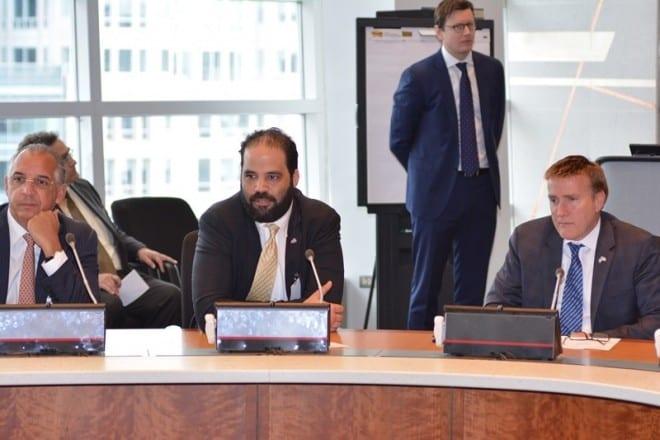 Fernando Capellán, Juan B. Vicini y James Brewster.