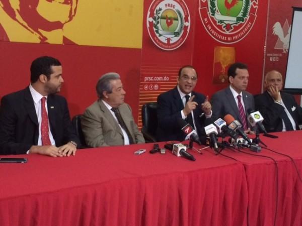 El presidente del Conep, Rafael Blanco Canto, fue recibido en la sede del PRSC por el presidente de la organización, Federico Antún Batlle./elDinero