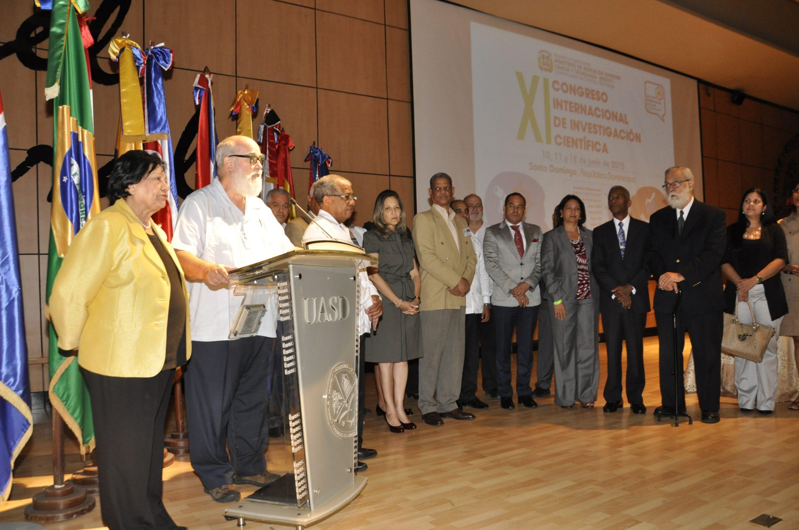 Ligia Amada Melo, ministra de Educación Superior, durante la clausura del cónclave sobre ciencia y tecnología.