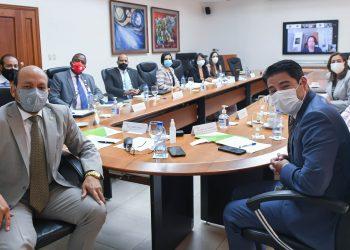 Representantes de la DGII y del MEPyD durante el encuentro virtual sostenido por la Agencia de Cooperación Internacional del Japón para evaluar los avances de Proyecto para el Fortalecimiento Institucional y Modernización de la DGII. | Fuente externa.