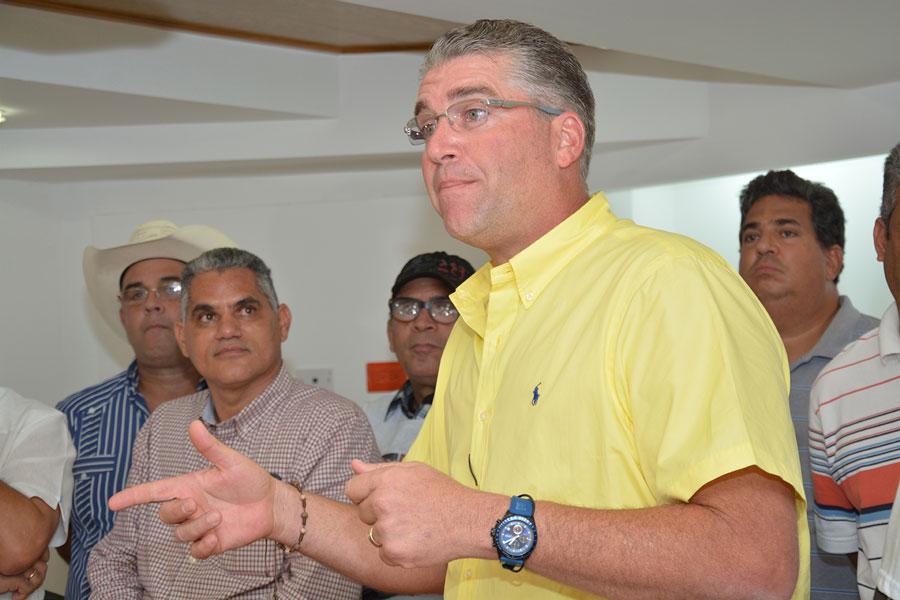 Eric Rivero,  presidente de la Confederación Nacional de Productores Agropecuarios (Confenagro).   Lésther Álvarez