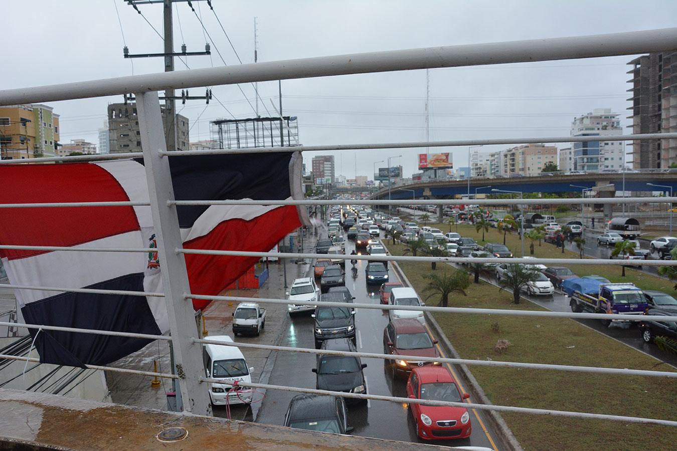 El tránsito recobró la normalidad este sábado, luego del paso de Erika por el país.| Gabriel Alcántara