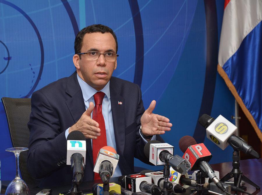 Andrés Navarro, canciller de República Dominicana. /GABRIEL ALCÁNTARA.