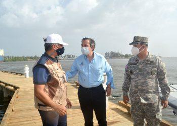 La visita se planteó la necesidad de que sea reactivada la Comisión Presidencial Ozama-Isabela.  /Lésther Alvarez