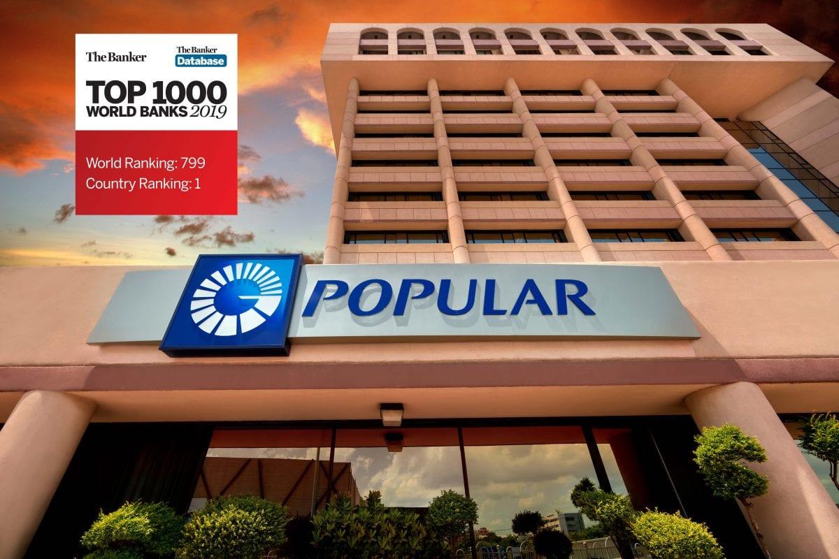 el banco popular dominicano es el banco 799 en lista de los 1000 mejores bancos de the banker