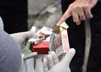 El método utilizado es la cuantificación y posterior análisis de los empaques de cigarrillos desechados.