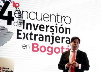"""En la imagen un registro del director ejecutivo de Invest in Bogotá, Juan Gabriel Pérez, quien indicó que """"en general, el ecosistema emprendedor de la ciudad fue resiliente ante las adversidades planteadas por la pandemia en 2020"""".   Mauricio Dueñas Castañeda, EFE."""