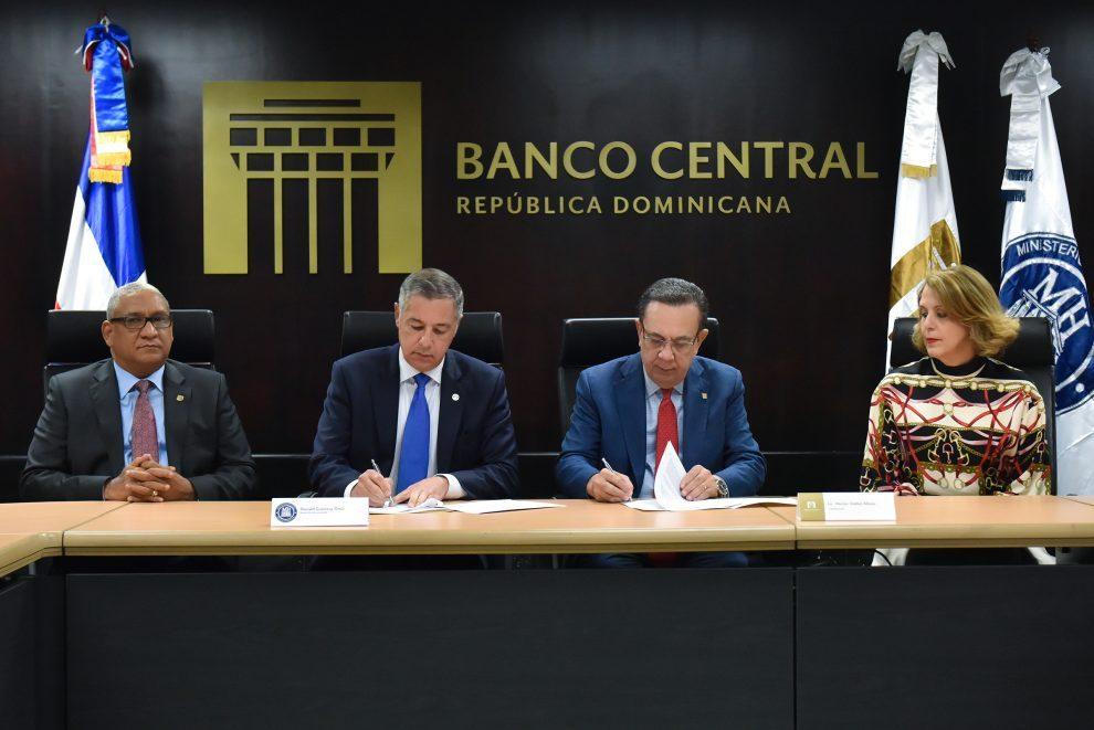 firma convenio banco central y ministerio de hacienda