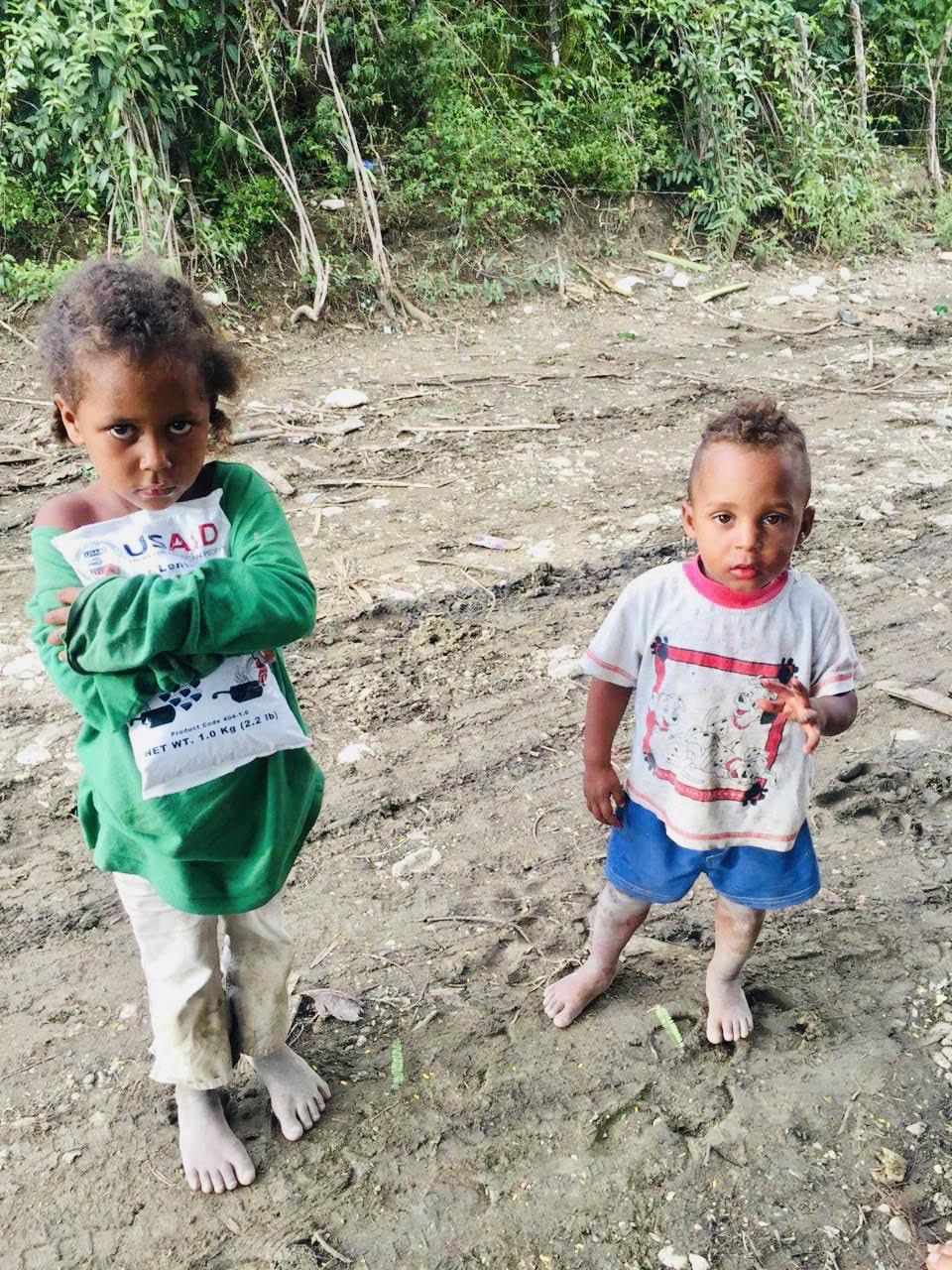 Niños en condiciones vulnerables.