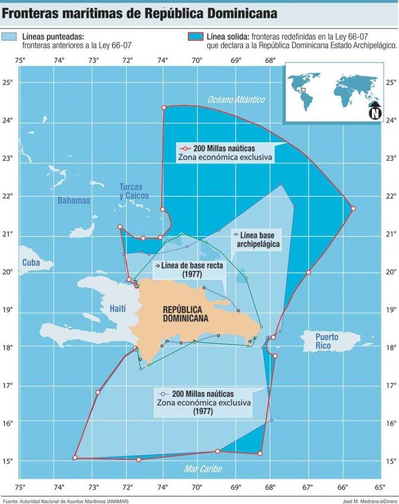 fronteras maritimas de republica dominicana