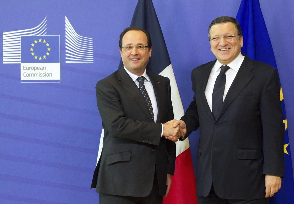 el presidente de la comisiÓn europea josÉ manuel durao barroso se reÚne con su homÓlogo francÉs franÇois hollande