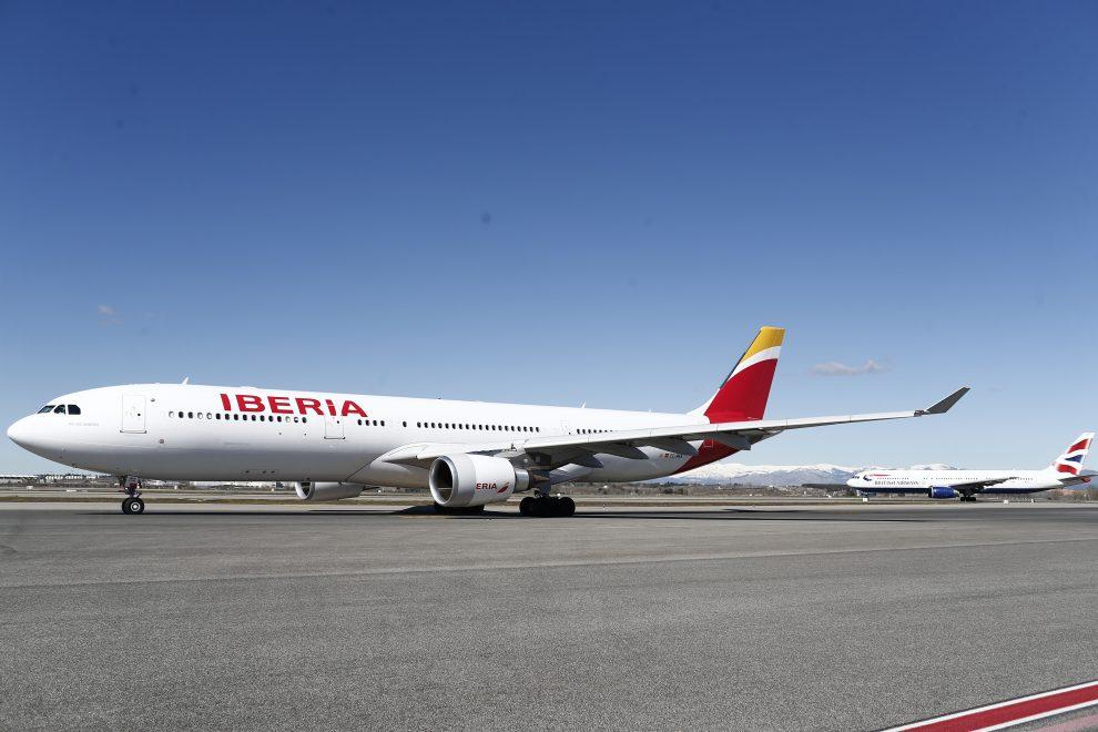 aeropuerto de barajas, iberia, british airways, aviones
