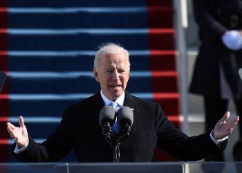 Joe Biden durante su toma de posesión como presidente de Estados Unidos.   El Espectador.