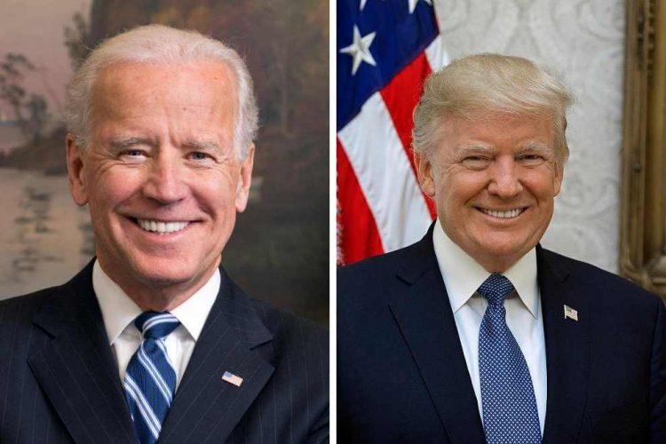 Los candidatos a la presidencia de EEUU, Joe Biden y Donald Trump.
