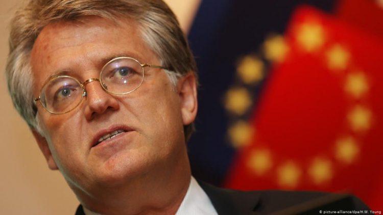 El presidente de la Cámara de Comercio de la Unión Europea en China, Joerg Wuttke. | H.W. Young, DPA.