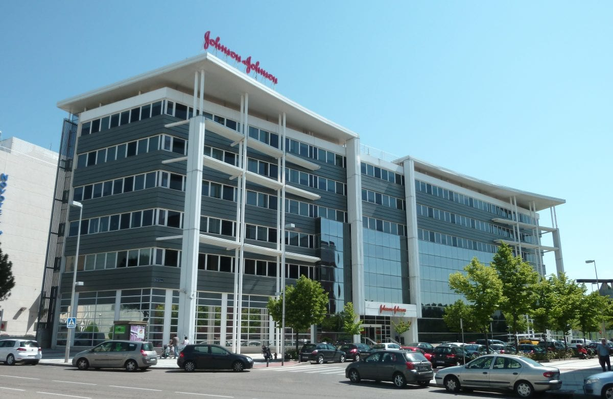 'johnson & johnson' offices in barajas district in madrid (spain).