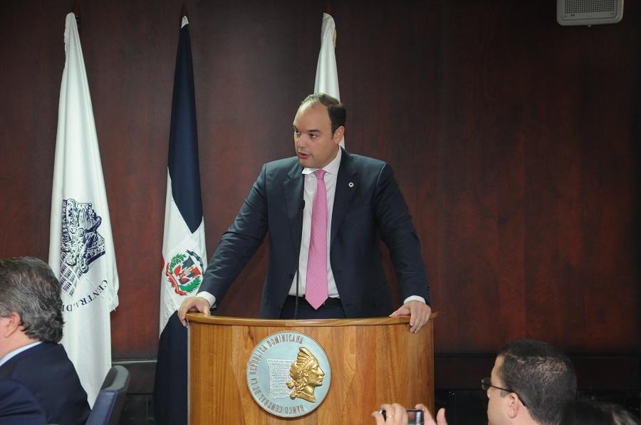 José del Castillo Saviñón, durante el seminario sobre arbitraje en el Banco Central.