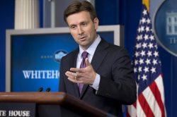 Josh Earnest, portavoz de la Casa Blanca.
