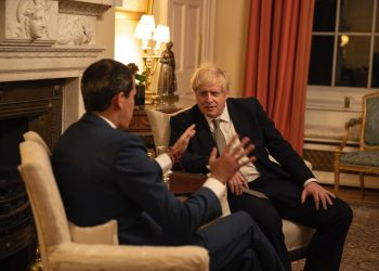 Juan Guaidó y Boris Johnson