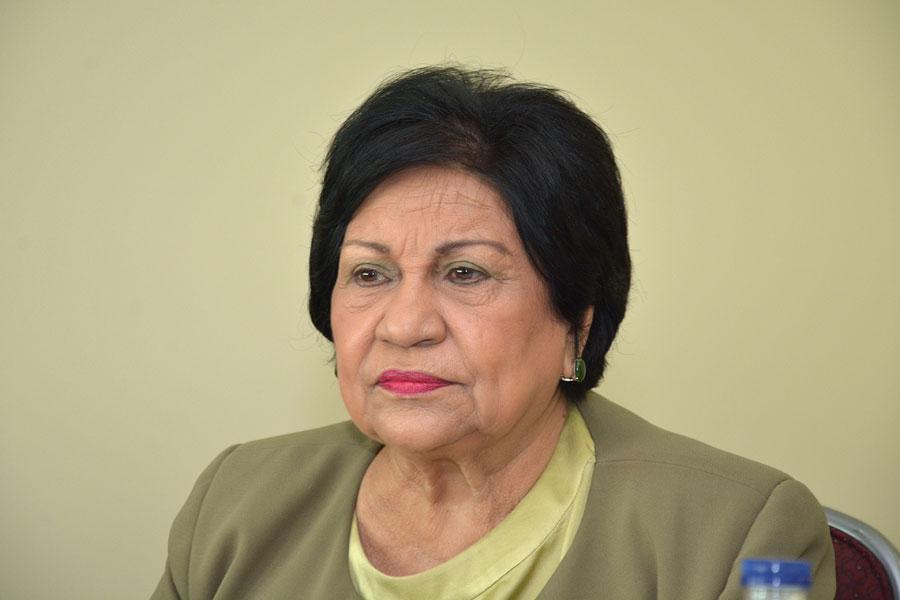 Ligia Amada Melo de Cardona, Ministra de Educación Superior, Ciencia y Tecnología. /Lésther Alvarez