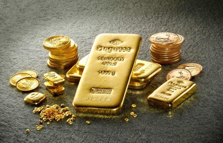 Lingotes de oro, oro metal