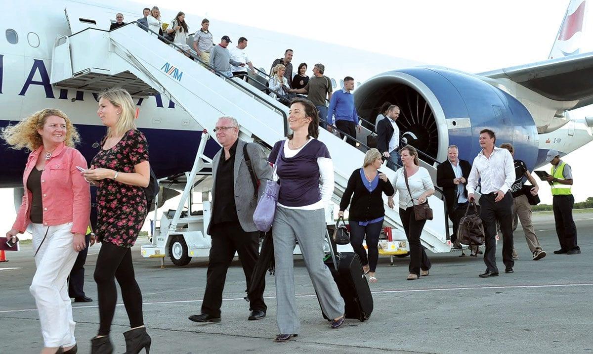 llegada de turistas punta cana.