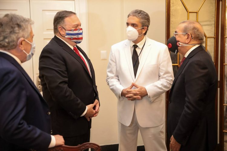 Michael R. Pompeo y Danilo Medina