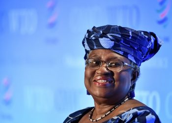 La candidata a la presidencia por la OMC, Ngozi Okonjo-Iweala . | Fabrice Coffrini, AFP.