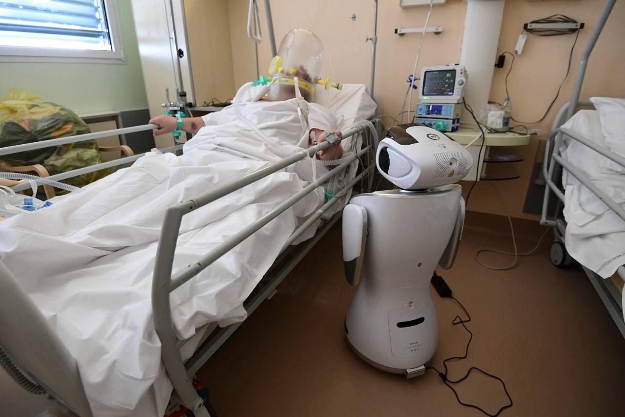 paciente con covid bajo tratamiento en italia