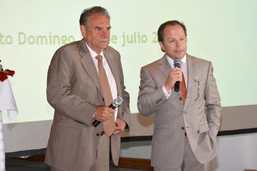Los empresarios Paolo Chilosi y Gaetan Bucher, miembros del Consejo Económico Binacional Quisqueya./Gabriel Alcántara