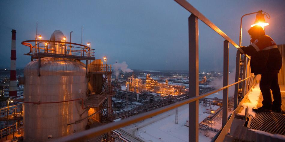 planta de petróleo