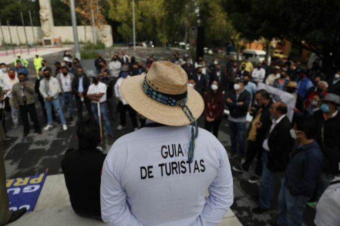 Protesta de guias turisticos en mexico