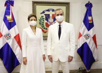 Raquel Peña y Luis Abinader