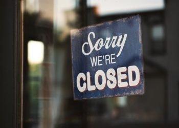 Restaurantes cerrados, locales cerrados, cierre de negocios