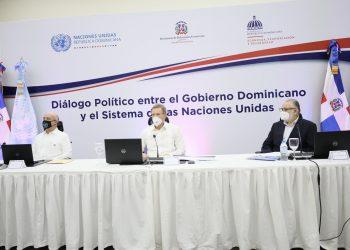 El canciller Roberto Álvarez en encuentro con representantes del Sistema de Naciones Unidas este martes. | Fuente externa.