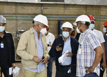 Salazar visita hidroeléctricas Pinalito y Río Blanco
