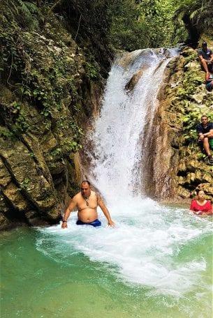 saltos rio el guineo