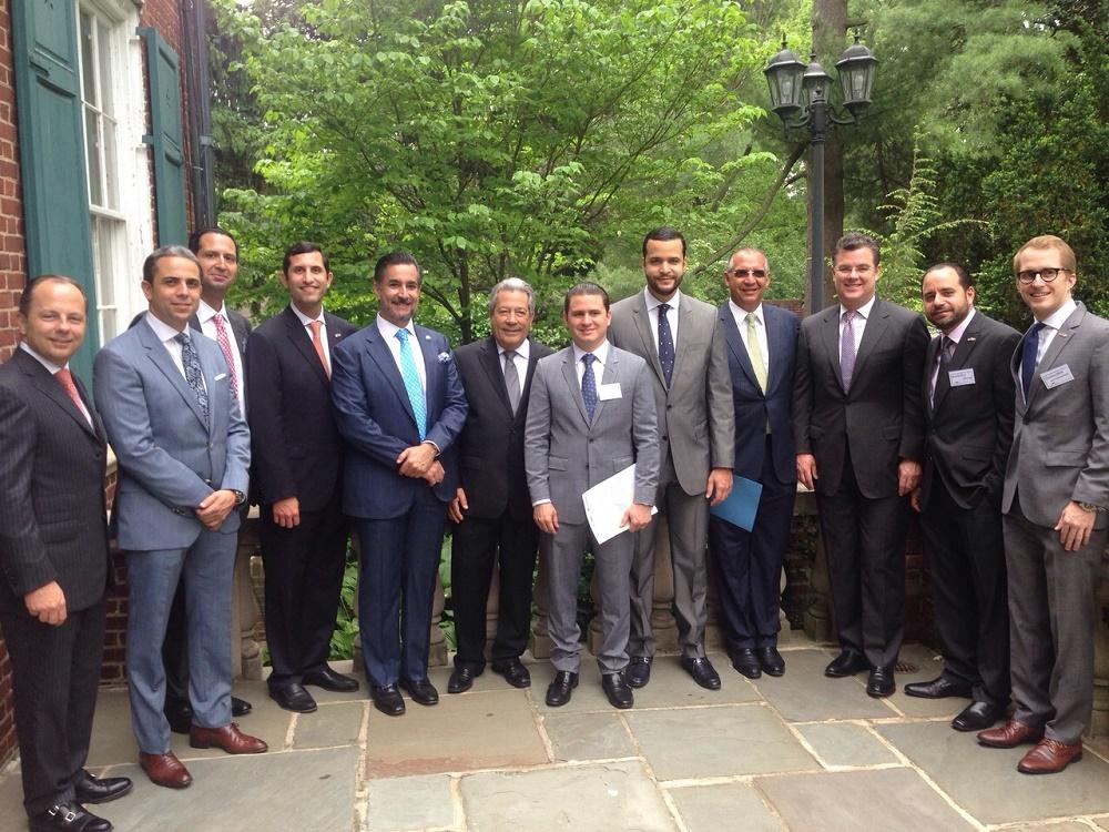 Parte de la delegación dominicana que participa en las actividades en Washington./elDinero