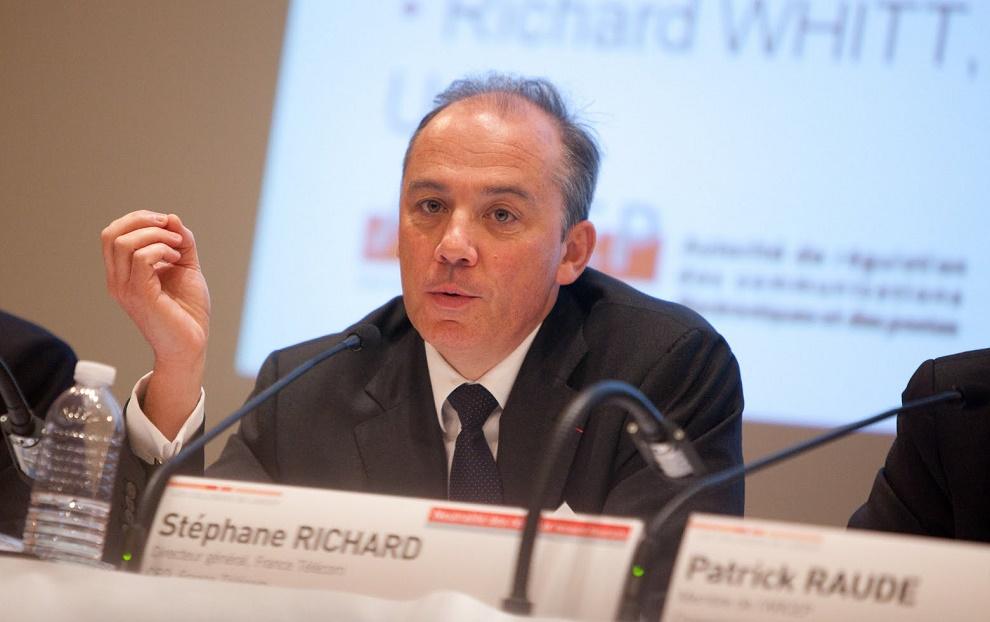 Stéphane Richard, presidente ejecutivo Orange, dijo que como empresa jamás estarían a favor de un boicot a Israel. Fuente: Olivier Ezratty